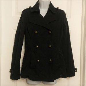Millitary blazer cotton jacket coat trench sz s